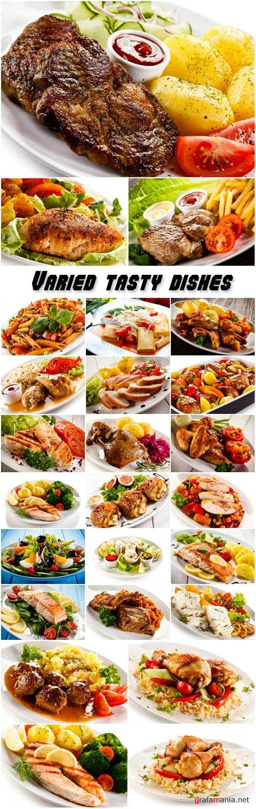 Varied tasty dishes