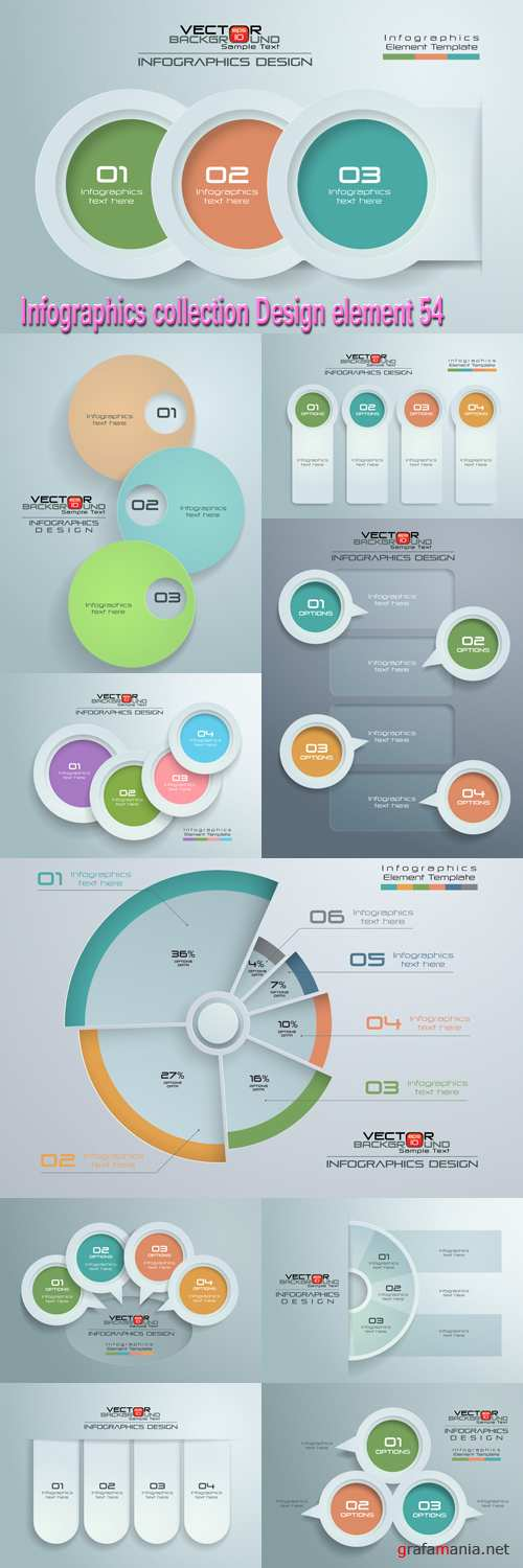 Infographics collection Design element 54
