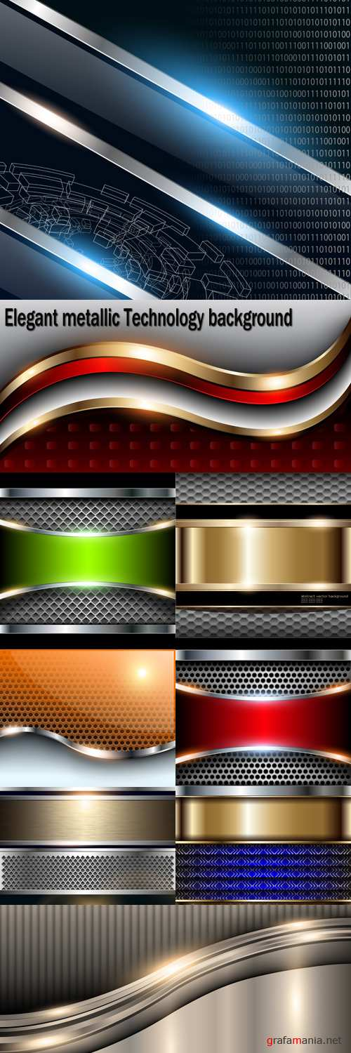 Elegant metallic Technology background