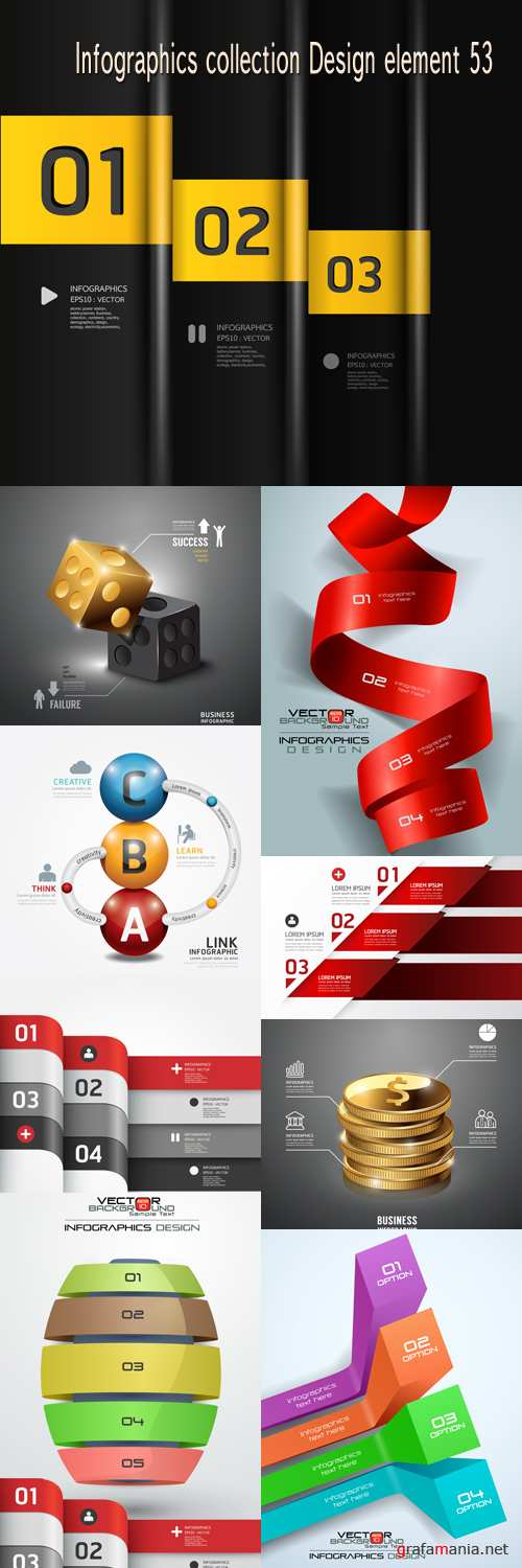 Infographics collection Design element 53