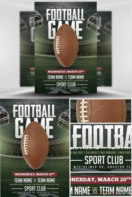 Flyer Template - American Football Game