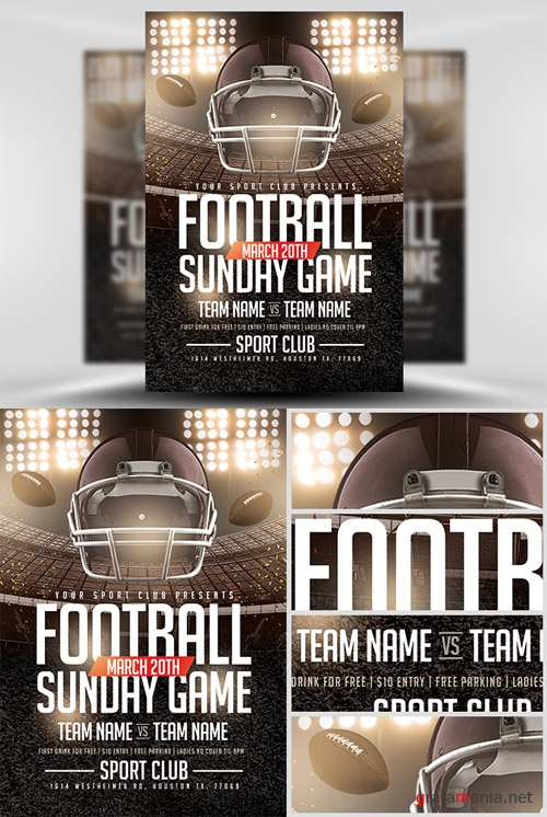 Flyer Template - Football Sundays 3