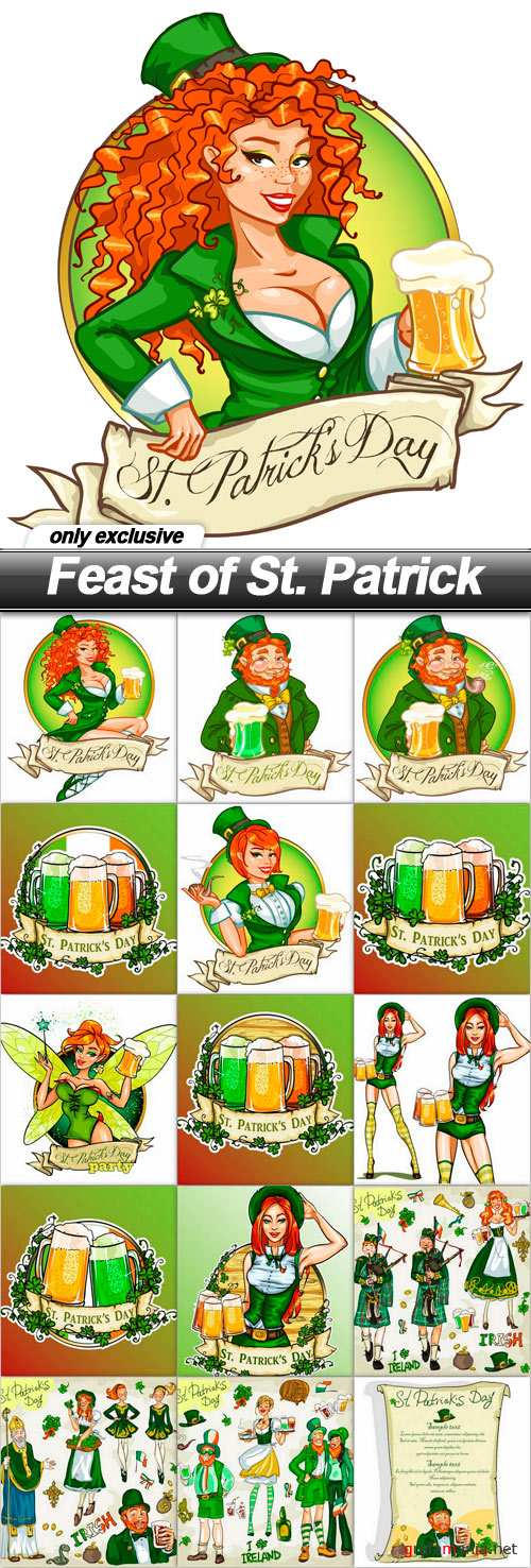 Feast of St. Patrick - 16 EPS