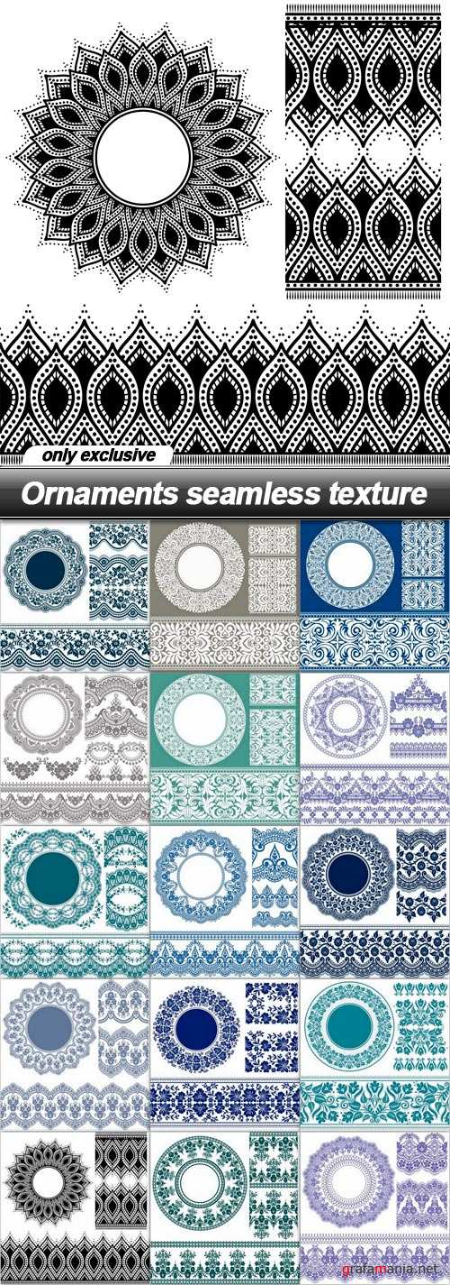 Ornaments seamless texture - 15 EPS