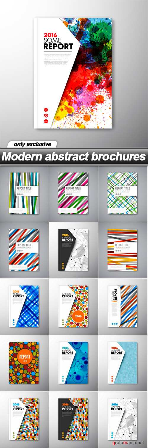 Modern abstract brochures - 16 EPS