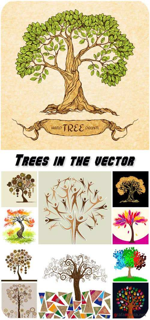 Trees in the vector, creative