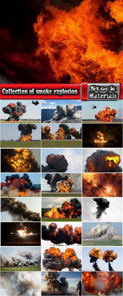 Collection of smoke explosion detonation 25 HQ Jpeg