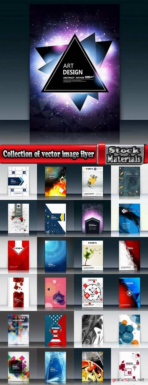 Collection of vector image flyer banner brochure business card 16-25 Eps