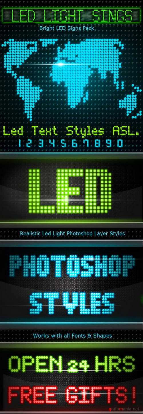 30 Realistic Led Signs Text Styles - 14449035