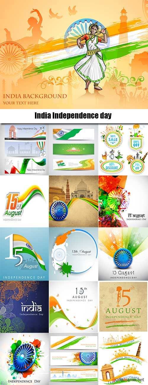 India Independence day template design