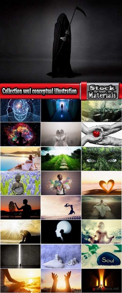 Collection soul conceptual illustration knowledge of faith meditation relaxation 25 HQ Jpeg