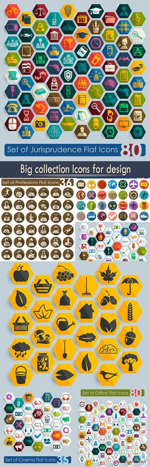 Big collection Icons for design
