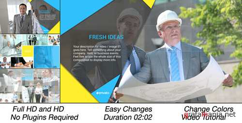 Clean Corporate Multi Video Slideshow - Project for After Effects (Videohive)