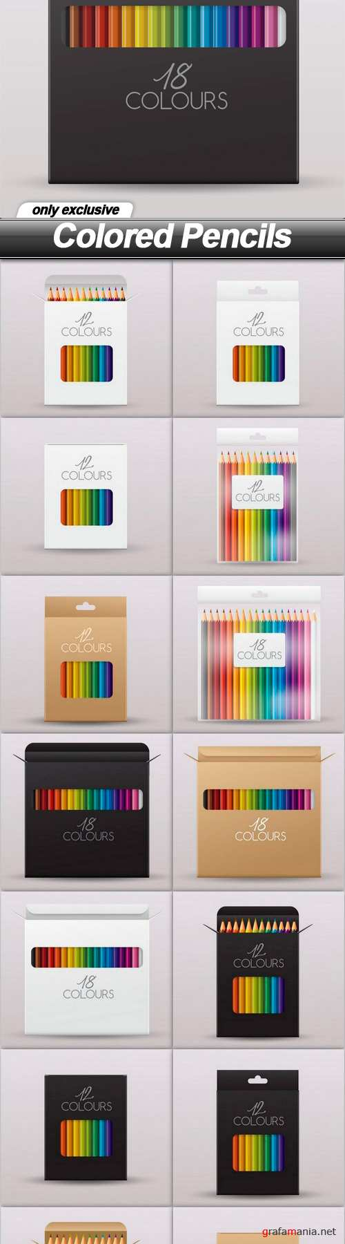 Colored Pencils - 14 EPS