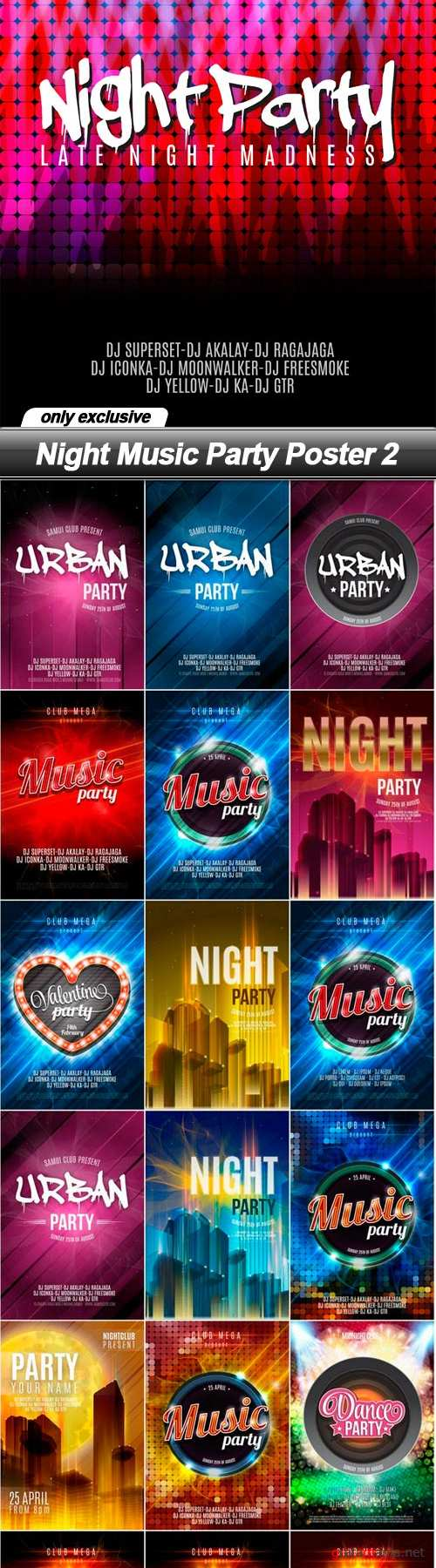 Night Music Party Poster 2 - 19 EPS