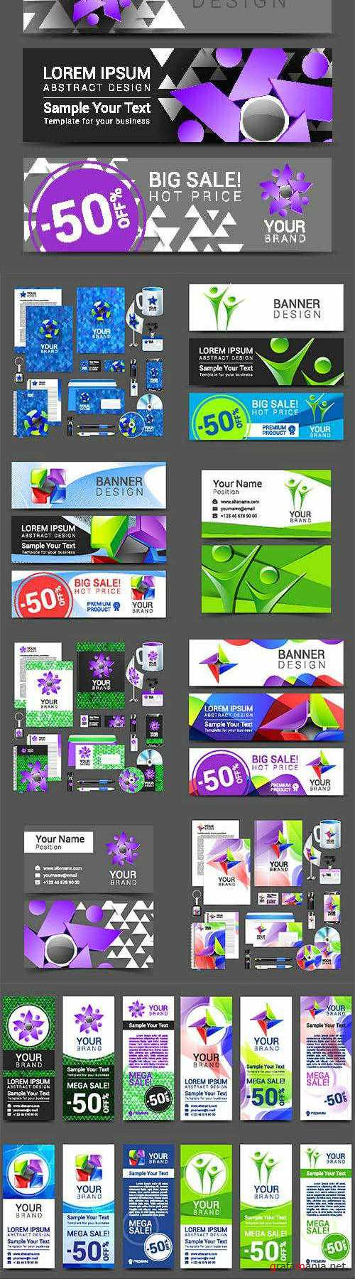 Vector - Corporate style banners and business cards