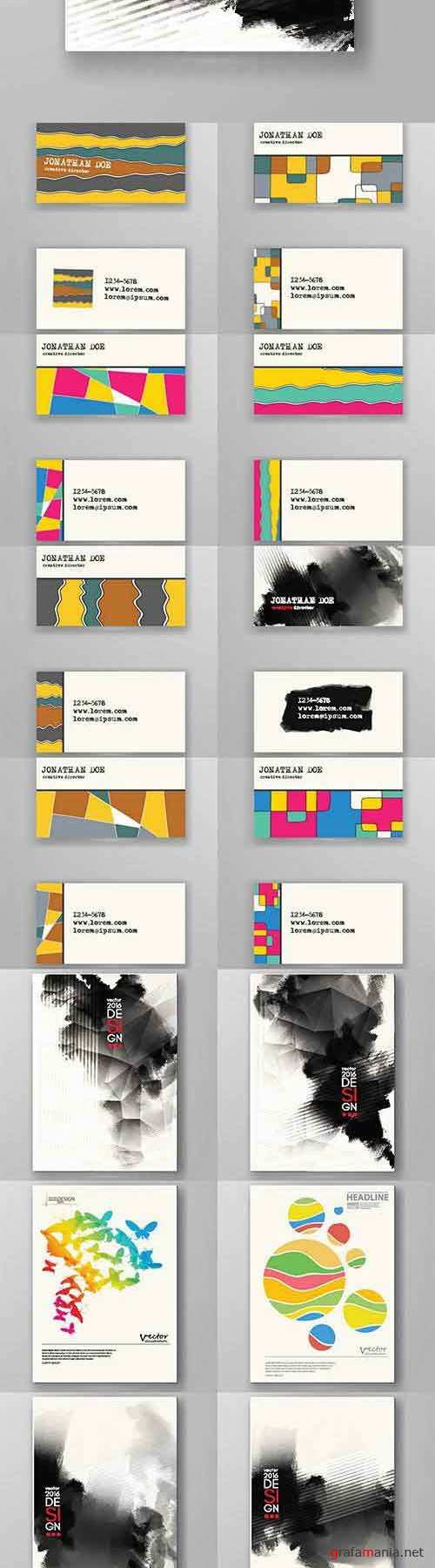 Vector Business cards and posters