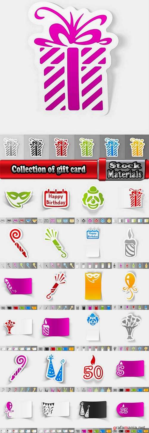 Collection of gift card business card background is pattern flyer banner 2-25 EPS