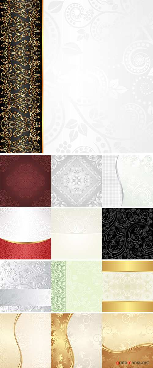 Stock background with floral ornaments vector