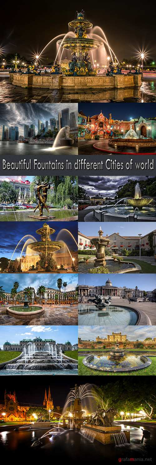 Beautiful Fountains in different Cities of world