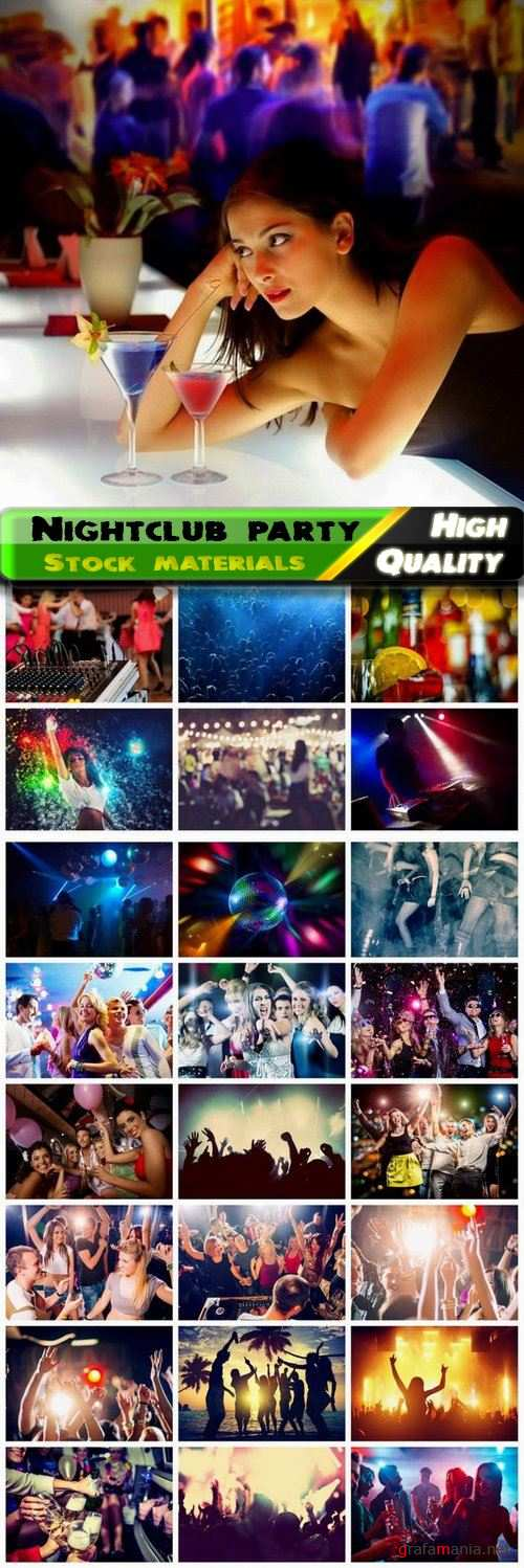 Party and disco in nightclub - 25 HQ Jpg