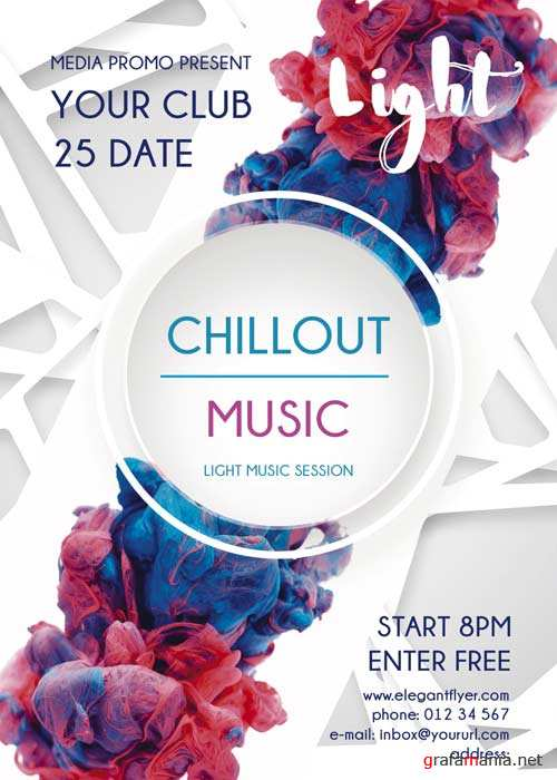 Chillout PREMIUM Flyer PSD Template + Facebook Cover