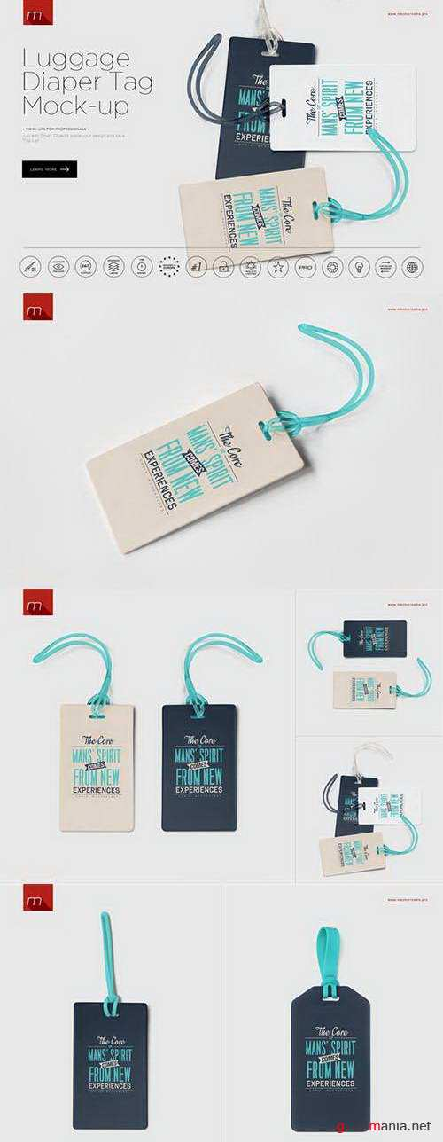 Luggage Diaper Tag Mock-up - 615332