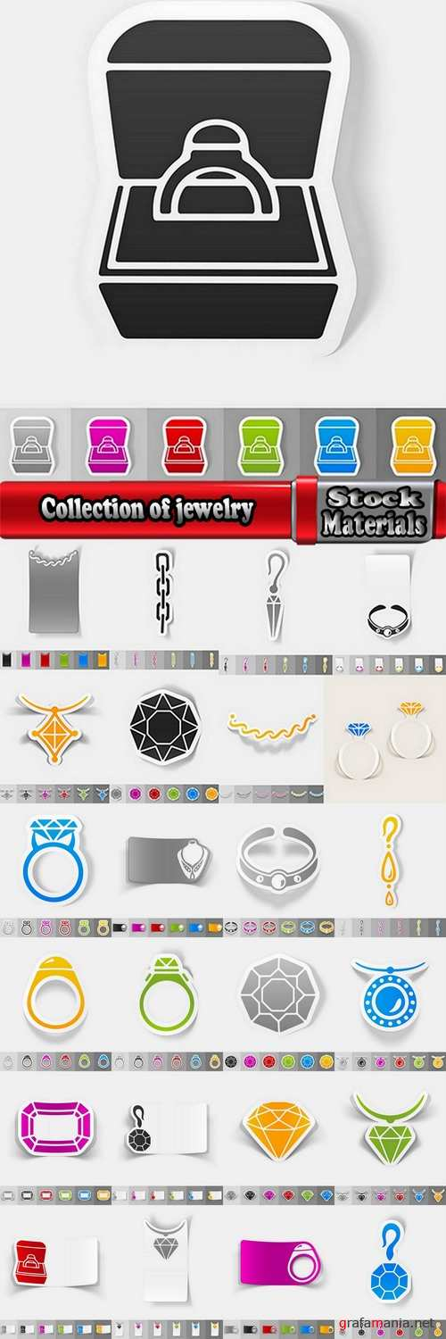 Collection of jewelry for a gift card 25 EPS