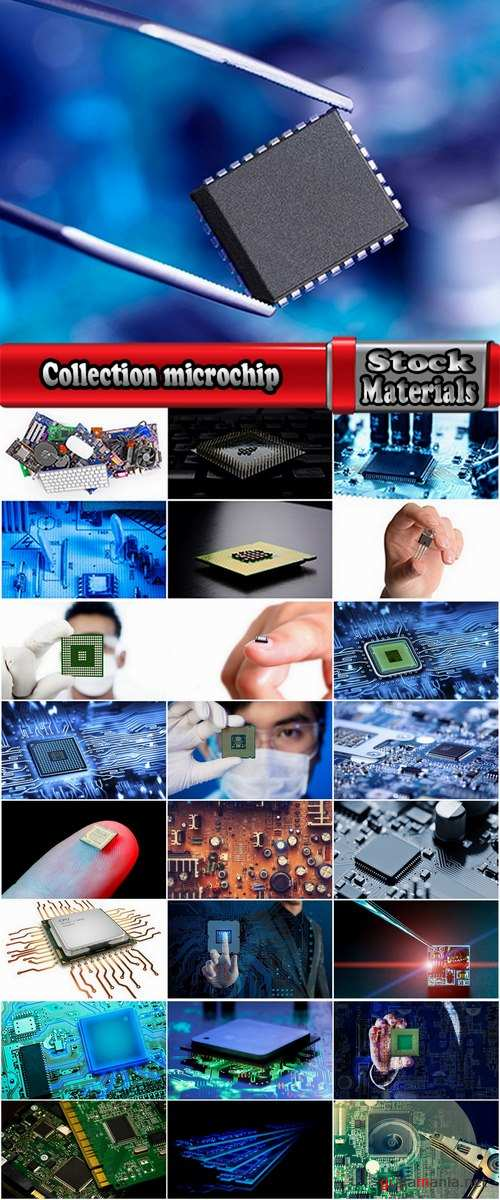 Collection microchip microprocessor circuit capacitor electronic board 25 HQ Jpeg
