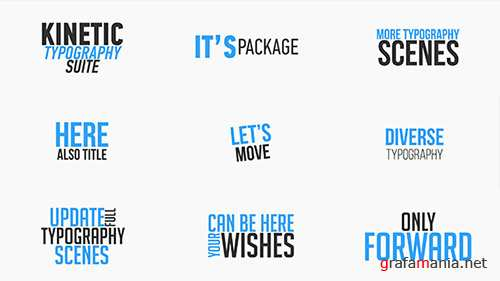 Kinetic Typography Suite - Project for After Effects (Videohive)