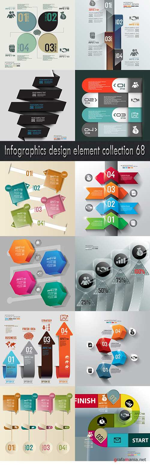 Infographics design element collection 68