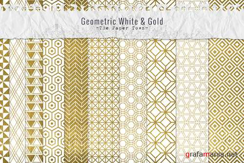 Gold Patterns Digital Papers - Creativemarket 371498