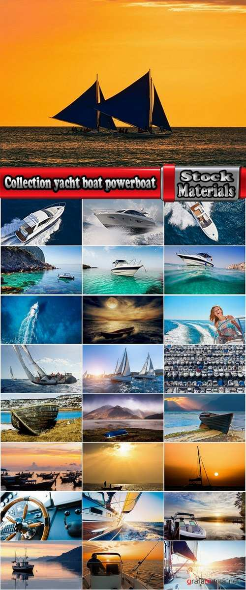 Collection yacht boat powerboat sailing boat sea ocean vacation tourism Trips 25 HQ Jpeg