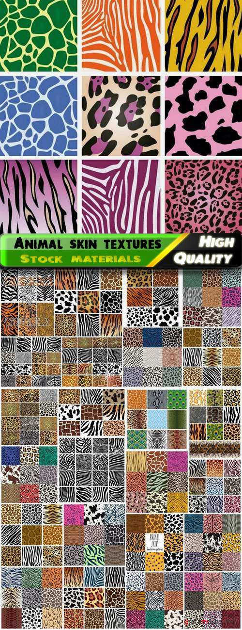 Animal skin textures and patterns - 25 Eps