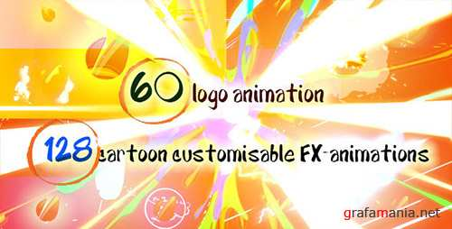 60 Quick Cartoon Logo Reveal Pack &128 Cartoon FX in 9 Packs - Project for After Effects (Videohive)