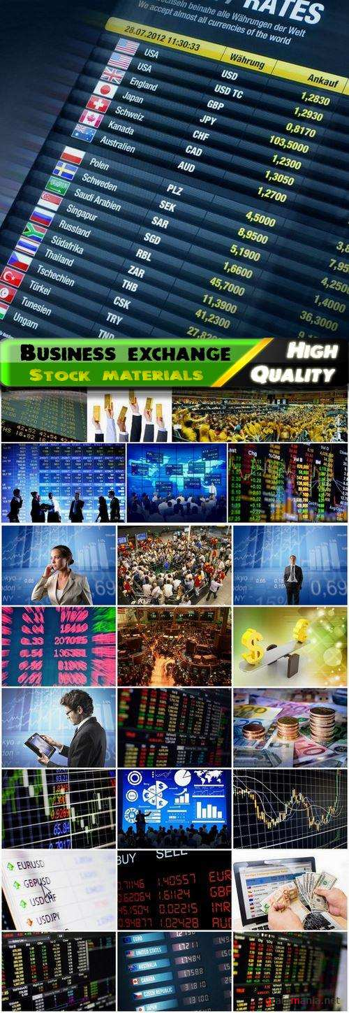 Business exchange rates and diagrams - 25 HQ Jpg