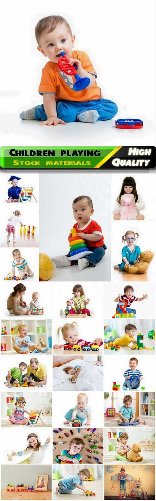 Happy children playing with toys - 25 HQ Jpg