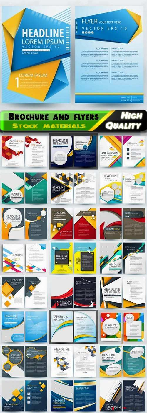 Brochure and flyers template design in vector from stock #85 - 25 Eps