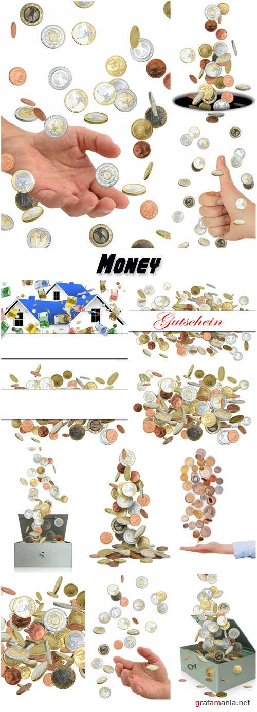 Placer coins, money