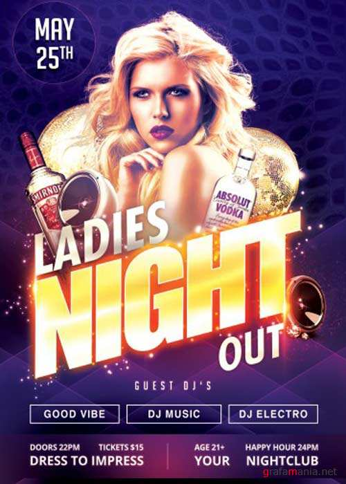 Ladies NIght Out V15 PSD Flyer Template