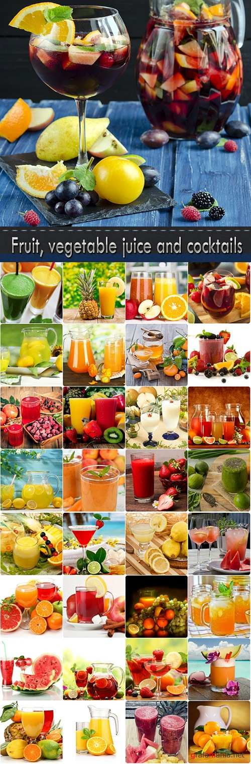 Fruit, vegetable juice and cocktails