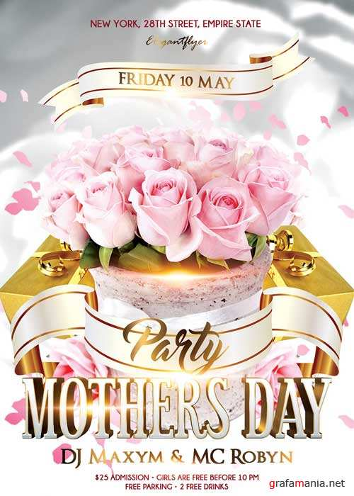 Mothers Day V7 PSD Flyer Template + Facebook Cover