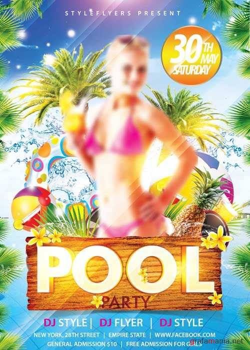 Pool Party V5 PSD Flyer Template