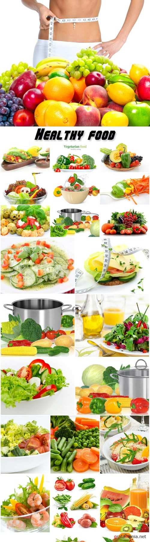 Healthy food, fruits and vegetables, vegetarian dishes