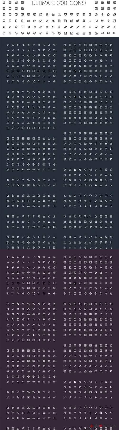LineArt Icons - Creativemarket 17209