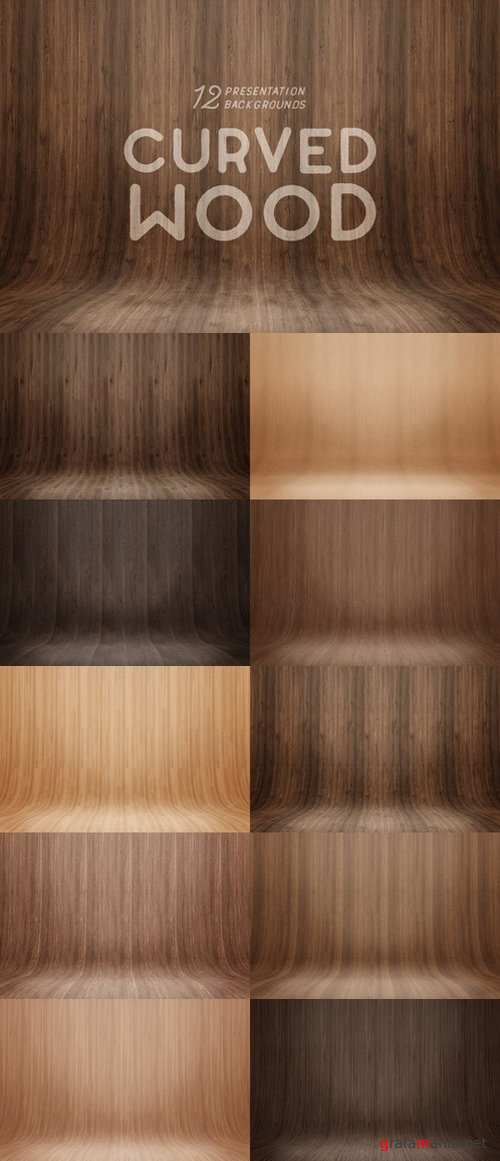Curved Wood Presentation Backgrounds - 660976