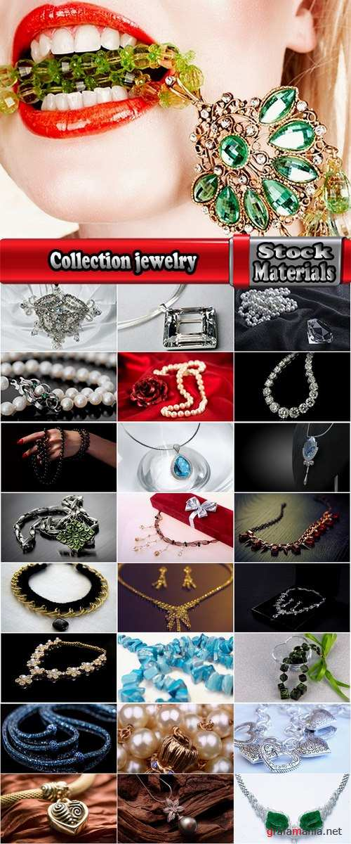 Collection jewelry necklace pendant necklace pearls precious metal stone 25 HQ Jpeg