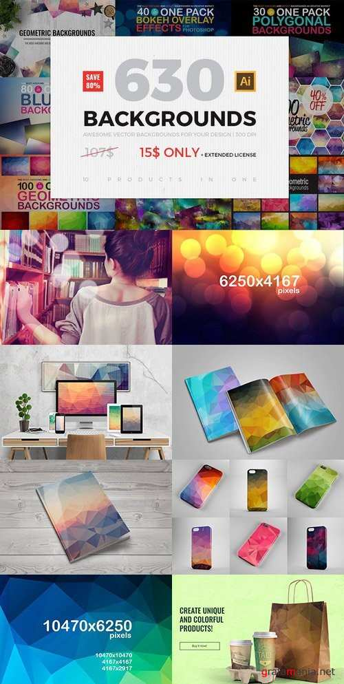 630 BACKGROUNDS IN ONE PACK - 651549