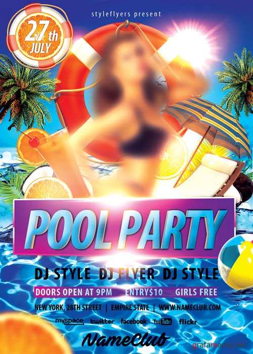 Pool Party  PSD V5 Flyer Template
