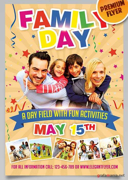 Family Day V3 Flyer PSD Template + Facebook Cover